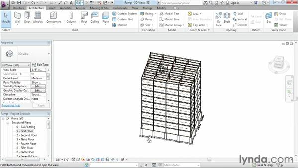 Creating a ramp: Revit Structure 2013 Essential Training