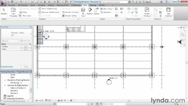 Creating a framing elevation: Revit Structure 2013 Essential Training