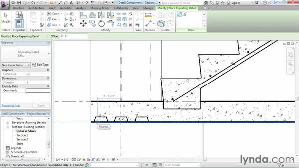 Using detail components to add common two-dimensional items: Revit Structure 2013 Essential Training