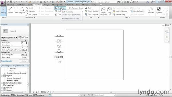 Creating a symbol legend from scratch: Revit Structure 2013 Essential Training