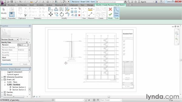 Adding revisions: Revit Structure 2013 Essential Training