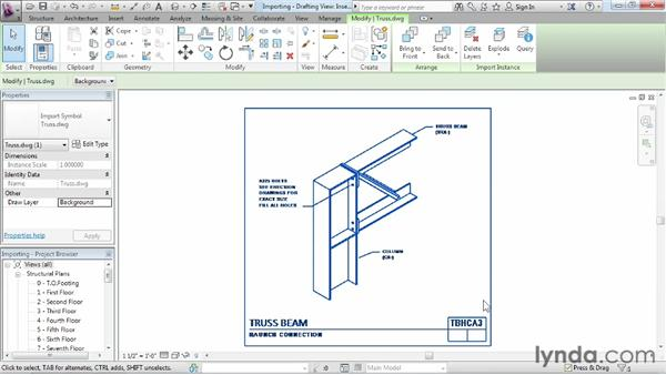 Importing CAD files: Revit Structure 2013 Essential Training