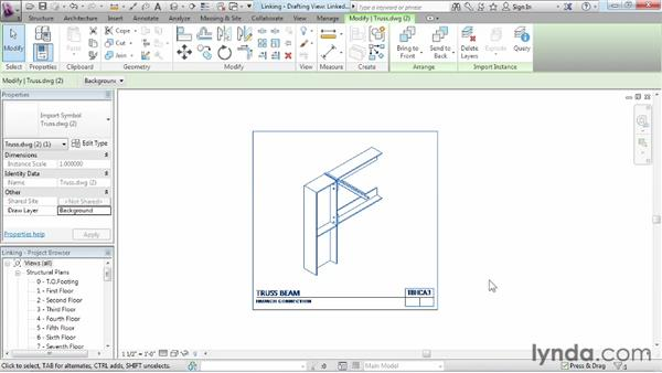 Linking CAD files: Revit Structure 2013 Essential Training