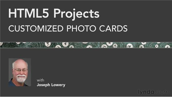 : HTML5 Projects: Customized Photo Cards
