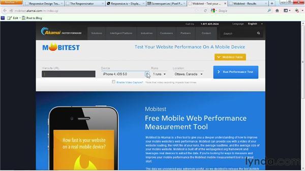 Testing responsive designs: Responsive Design Fundamentals
