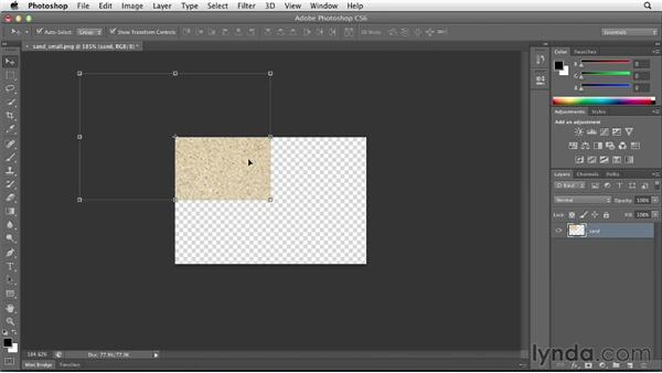 Creating repeating backgrounds: Designing a Portfolio Website with Muse