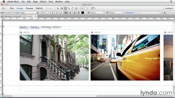 The basics of horizontal scrolling websites: Designing a Portfolio Website with Muse