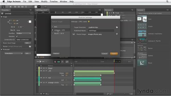 Integrating Adobe Edge Animate graphics: Designing a Portfolio Website with Muse