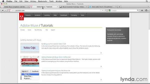 Helpful resources (Updated): Designing a Portfolio Website with Muse