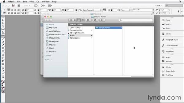 Installing scripts: InDesign CS6 to EPUB, Kindle, and iPad
