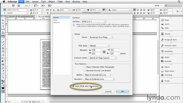 Creating a navigation table of contents (TOC) with a TOC style: InDesign CS6 to EPUB, Kindle, and iPad