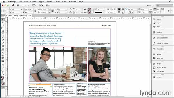 Managing the sequence of content: InDesign CS6 to EPUB, Kindle, and iPad
