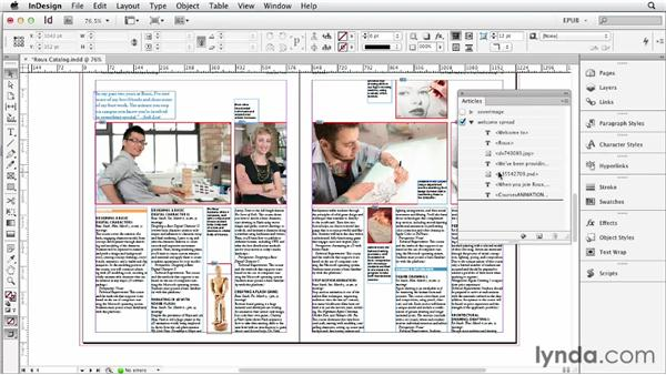 Using the Articles panel to manage content flow: InDesign CS6 to EPUB, Kindle, and iPad
