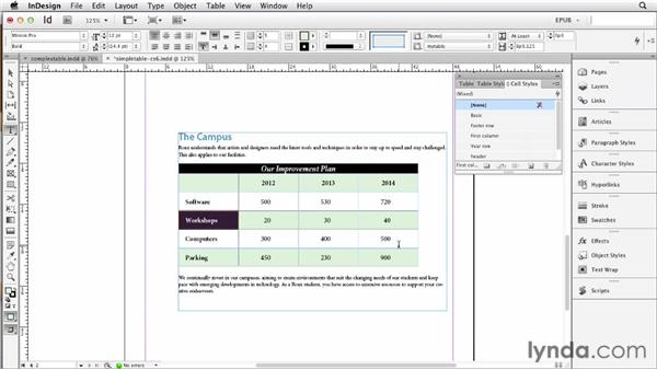Preparing tables for optimal conversion: InDesign CS6 to EPUB, Kindle, and iPad