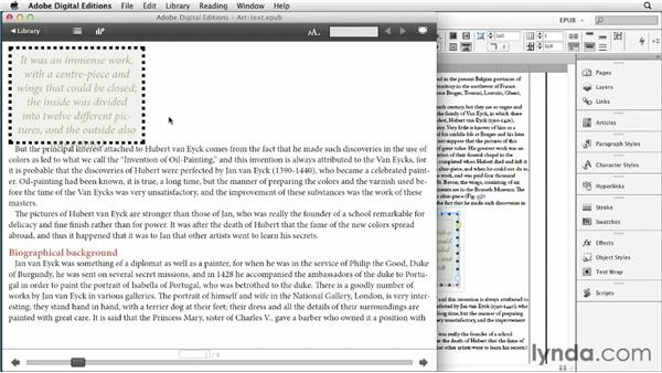 Creating pull quotes and text wraps: InDesign CS6 to EPUB, Kindle, and iPad