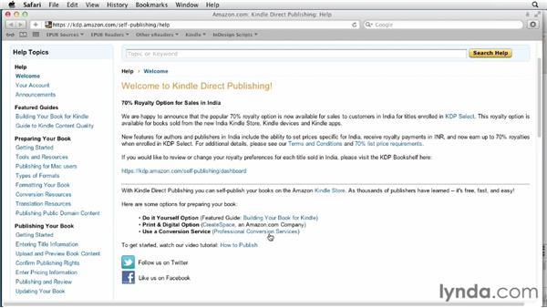 Exploring the Kindle Direct Publishing (KDP) portal: InDesign CS6 to EPUB, Kindle, and iPad