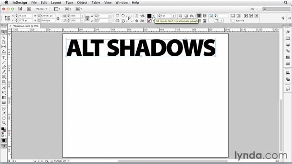 066 Making new shadow effects: InDesign FX