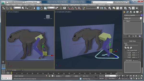 Adding legs to a rig: Getting Started with CAT Rigging Tools in 3ds Max