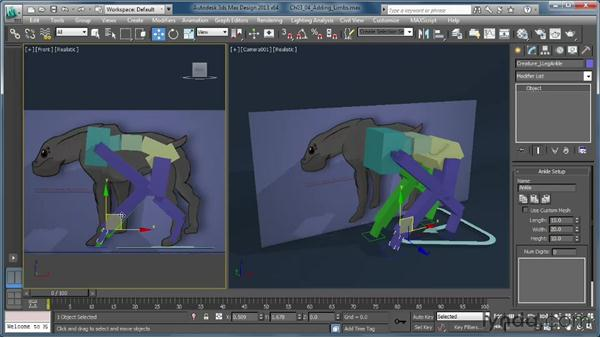 Adding limbs: Getting Started with CAT Rigging Tools in 3ds Max