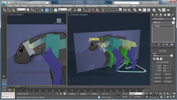 Adding extra bones to the head: Getting Started with CAT Rigging Tools in 3ds Max