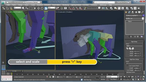 Adding toes and tails: Getting Started with CAT Rigging Tools in 3ds Max