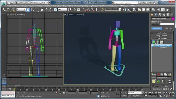 Understanding the Setup and Animation modes: Getting Started with CAT Rigging Tools in 3ds Max