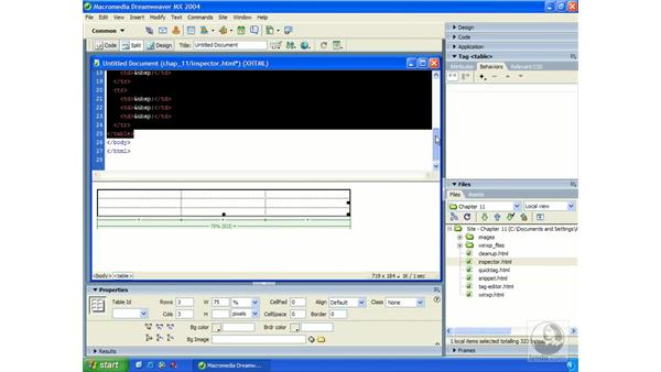 viewing and editing XHTML: Dreamweaver MX 2004 Essential Training