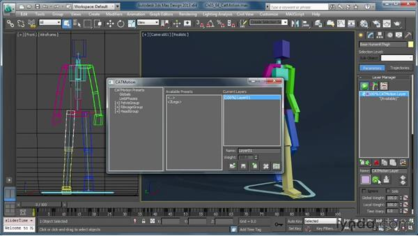 Exploring the CATMotion layer: Getting Started with CAT Rigging Tools in 3ds Max