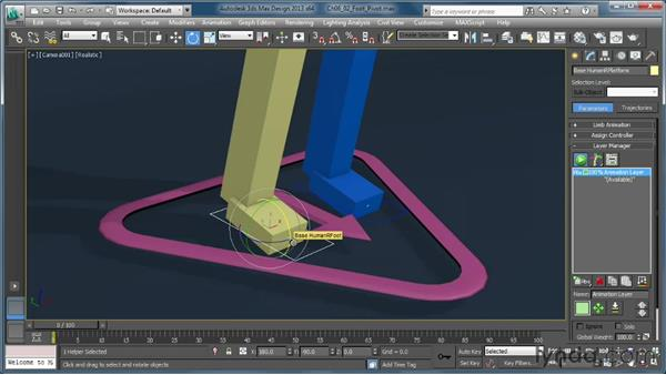 Exploring the foot pivot system: Getting Started with CAT Rigging Tools in 3ds Max