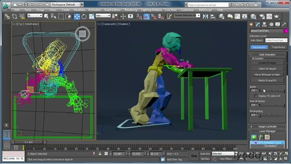 Using the IK/FK system: Getting Started with CAT Rigging Tools in 3ds Max