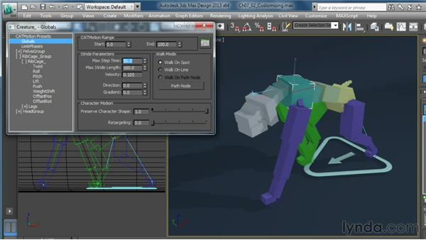 Customizing motion: Getting Started with CAT Rigging Tools in 3ds Max