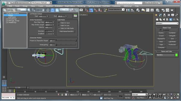 Directing motion: Getting Started with CAT Rigging Tools in 3ds Max