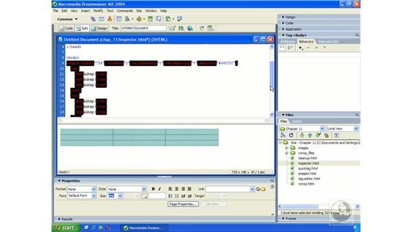 code preferences: Dreamweaver MX 2004 Essential Training