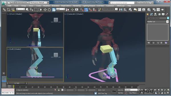 Building a rig: The lower body: Getting Started with CAT Rigging Tools in 3ds Max
