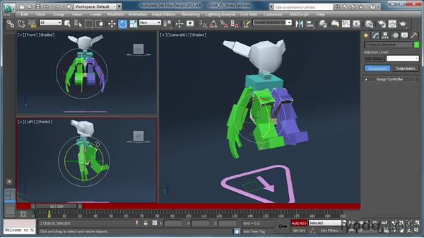 Creating a stress-test animation: Getting Started with CAT Rigging Tools in 3ds Max