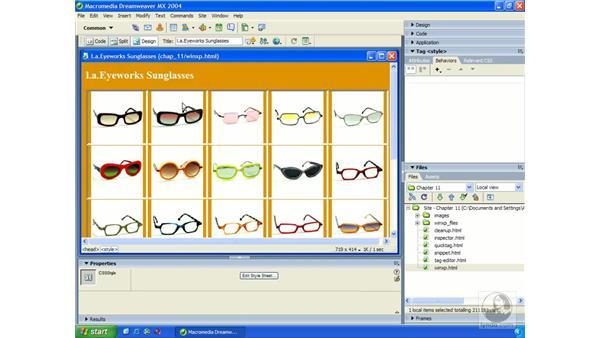 code validator: Dreamweaver MX 2004 Essential Training