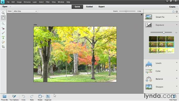 Overview of the editing workspaces: Photoshop Elements 11 Essentials: 02 Editing and Retouching Photos