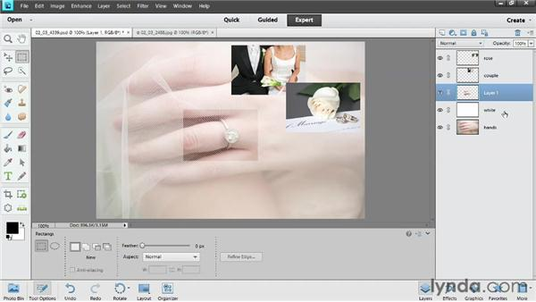 Creating new layers: Photoshop Elements 11 Essentials: 02 Editing and Retouching Photos
