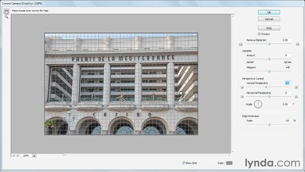 Correcting camera distortion: Photoshop Elements 11 Essentials: 02 Editing and Retouching Photos