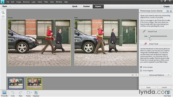 Removing people from a scene: Photoshop Elements 11 Essentials: 02 Editing and Retouching Photos