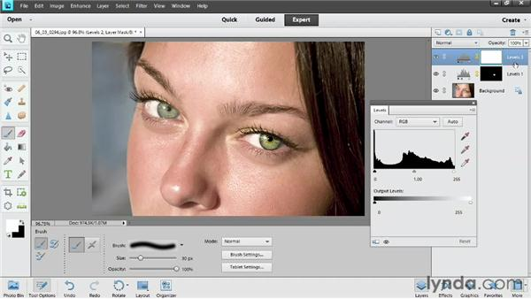 Enhancing eyes: Photoshop Elements 11 Essentials: 02 Editing and Retouching Photos