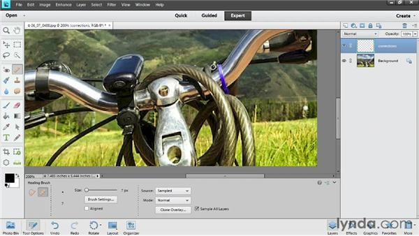 Removing content: Photoshop Elements 11 Essentials: 02 Editing and Retouching Photos