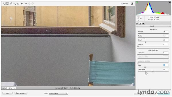 Reducing noise: Photoshop Elements 11 Essentials: 02 Editing and Retouching Photos
