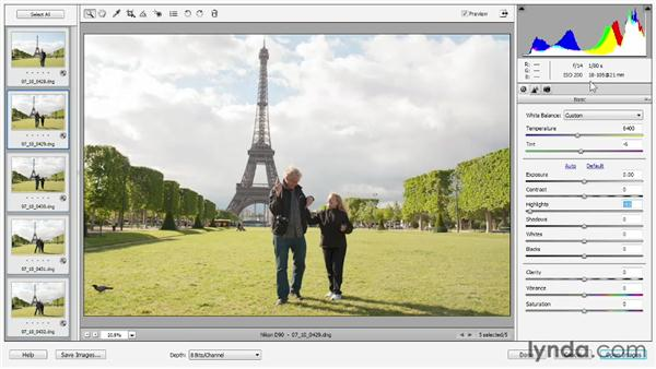 Synchronizing edits to multiple photos: Photoshop Elements 11 Essentials: 02 Editing and Retouching Photos