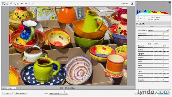 Using Camera Raw with JPEGs: Photoshop Elements 11 Essentials: 02 Editing and Retouching Photos