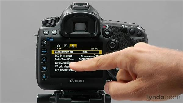 Setting the language: Shooting with the Canon 5D Mark III