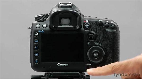 Using the lock switch: Shooting with the Canon 5D Mark III