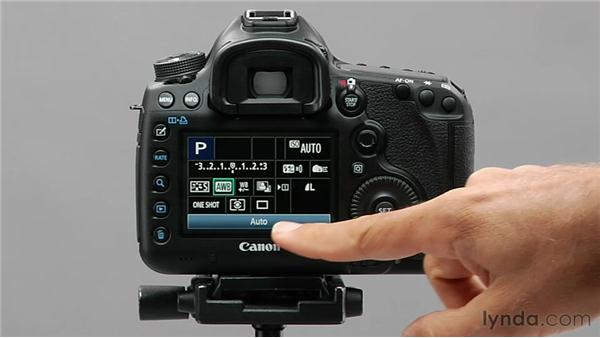 Using the Quick Control screen: Shooting with the Canon 5D Mark III