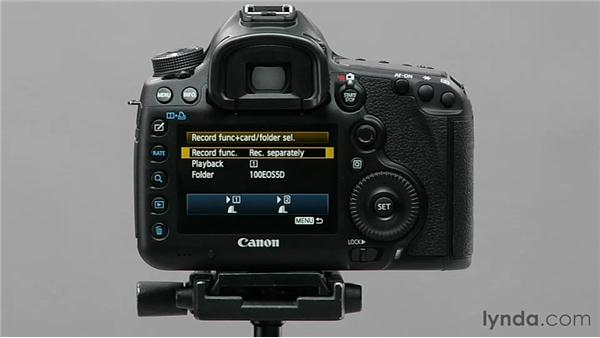 Configuring multiple media cards: Shooting with the Canon 5D Mark III