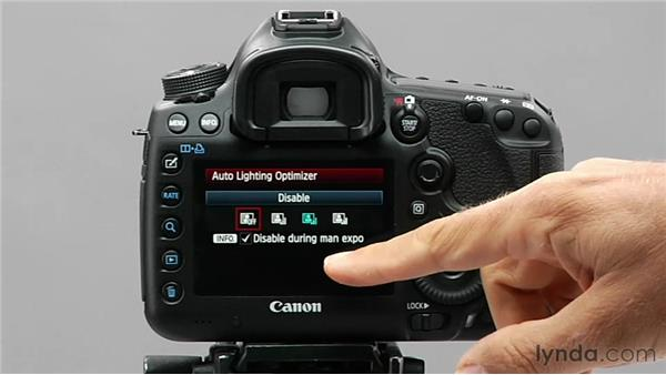 Working with the Auto Lighting Optimizer: Shooting with the Canon 5D Mark III